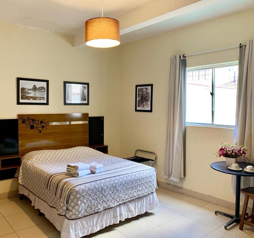Cama o camas de una habitación en Ace Praia de Botafogo Suites