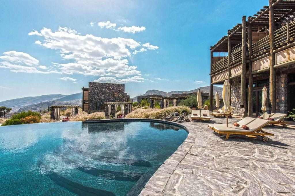 The swimming pool at or near Alila Jabal Akhdar
