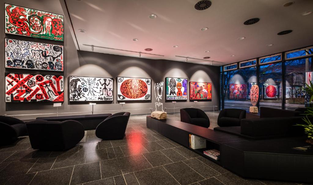 The lobby or reception area at Penck Hotel Dresden