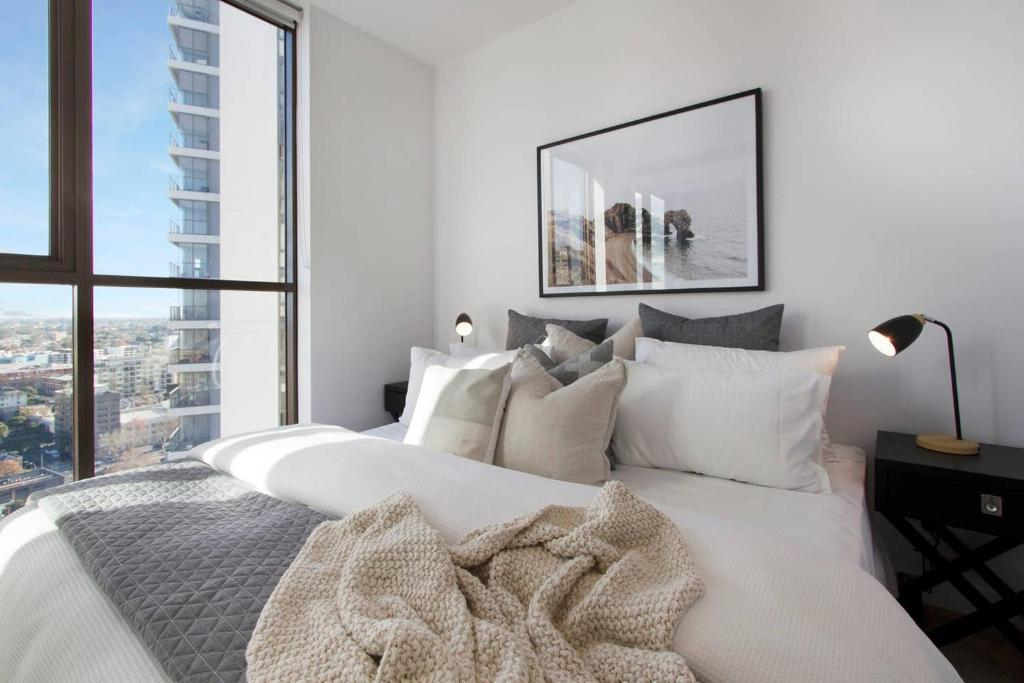 A seating area at 5 Star LOCATION! Cosy1BR Sydney CBD, Chinatown & ICC