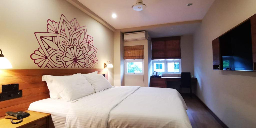 Cama o camas de una habitación en Meri Maldives
