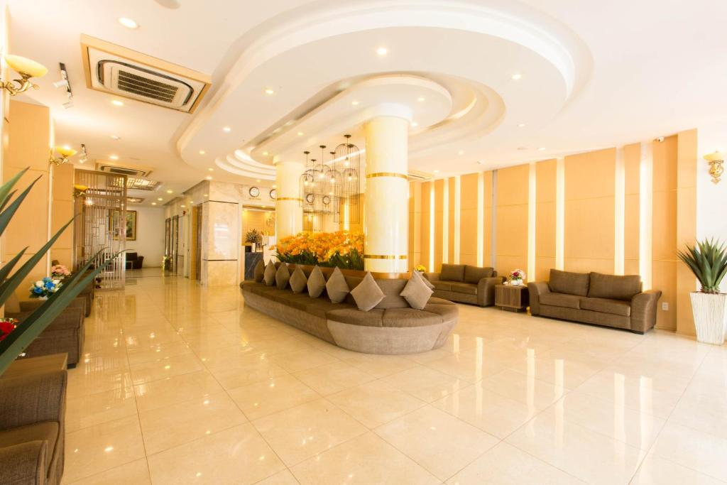 The lobby or reception area at Minh Tam Hotel and Spa