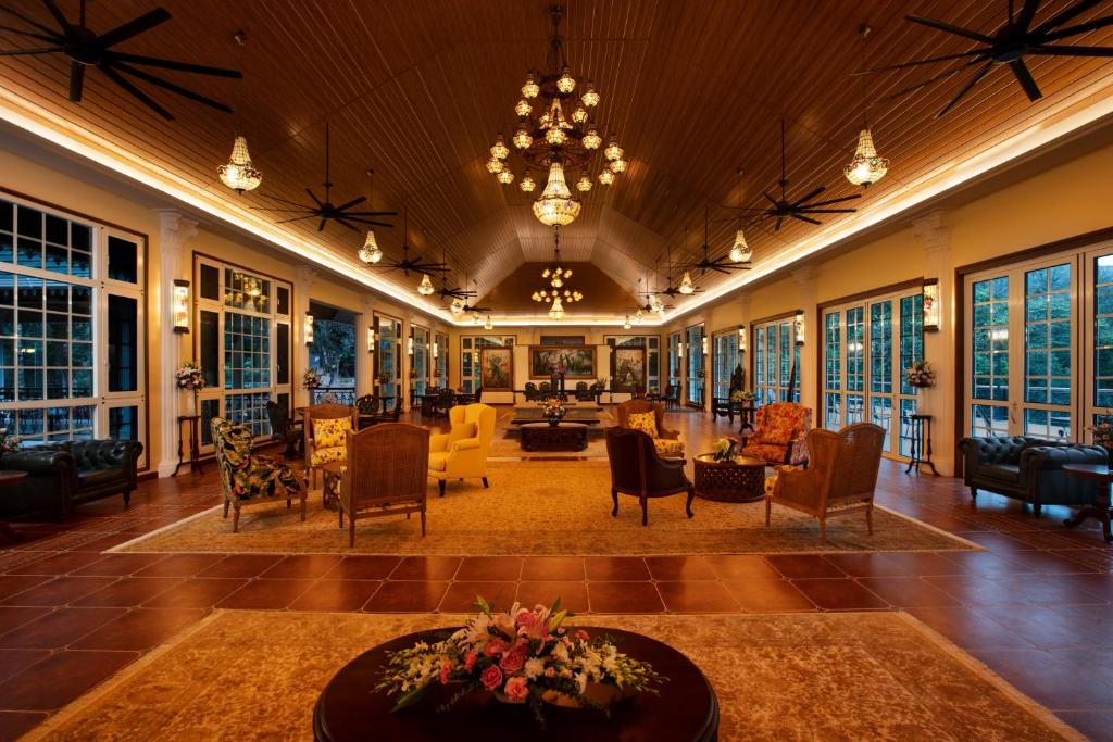 The lobby or reception area at Coorg Wilderness Resort