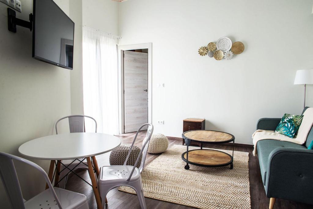Zona de estar de Apartamentos Estela de Altamira