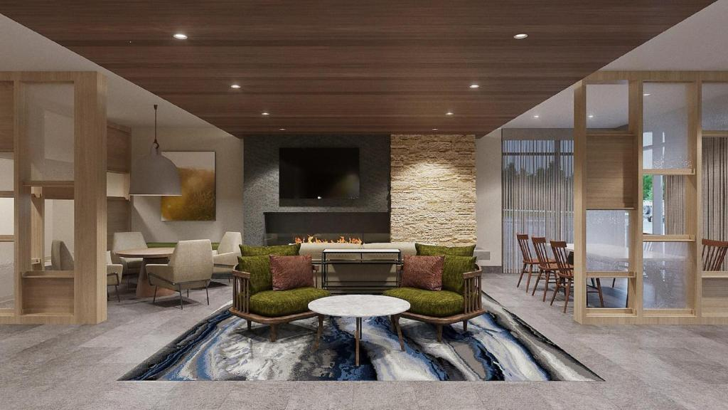 A seating area at Fairfield Inn & Suites by Marriott Queensbury Glens Falls/Lake George