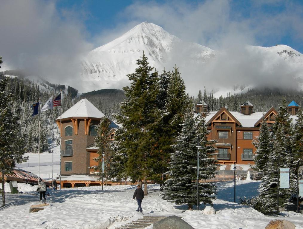 Big Sky Resort Village Center during the winter