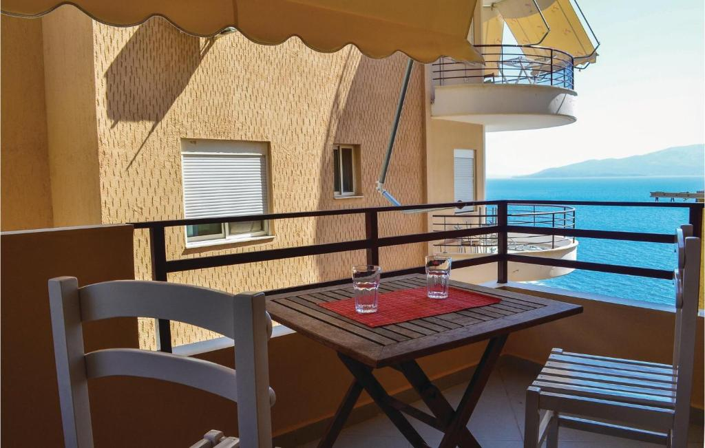Balkon ili terasa u objektu Apartment Sarande with Sea View 7