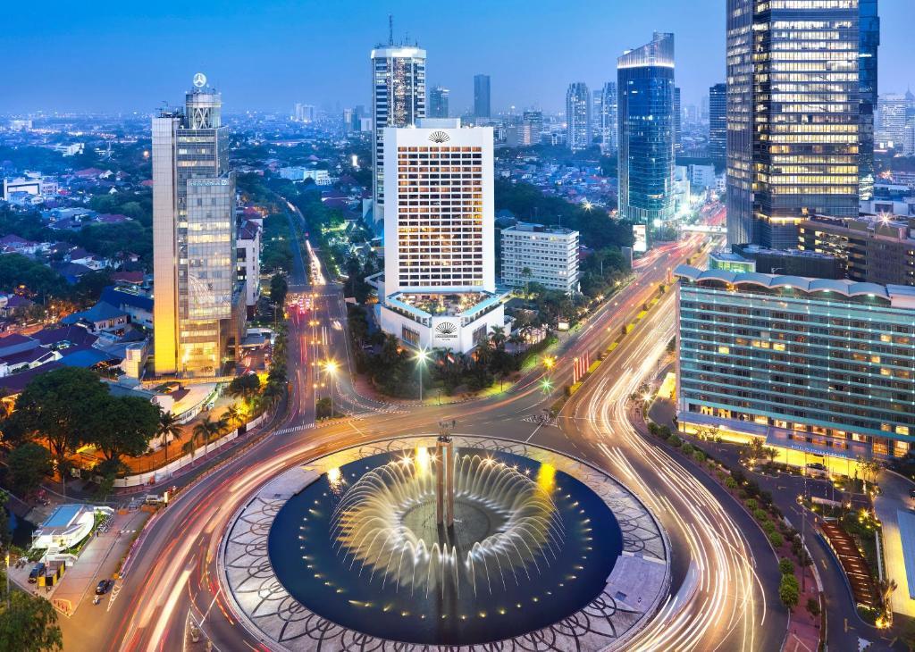 Uma vista aérea de Mandarin Oriental Jakarta