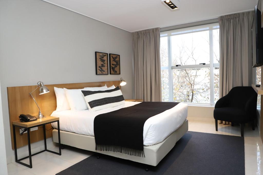 Lova arba lovos apgyvendinimo įstaigoje Agua del Corral Hotel & Spa
