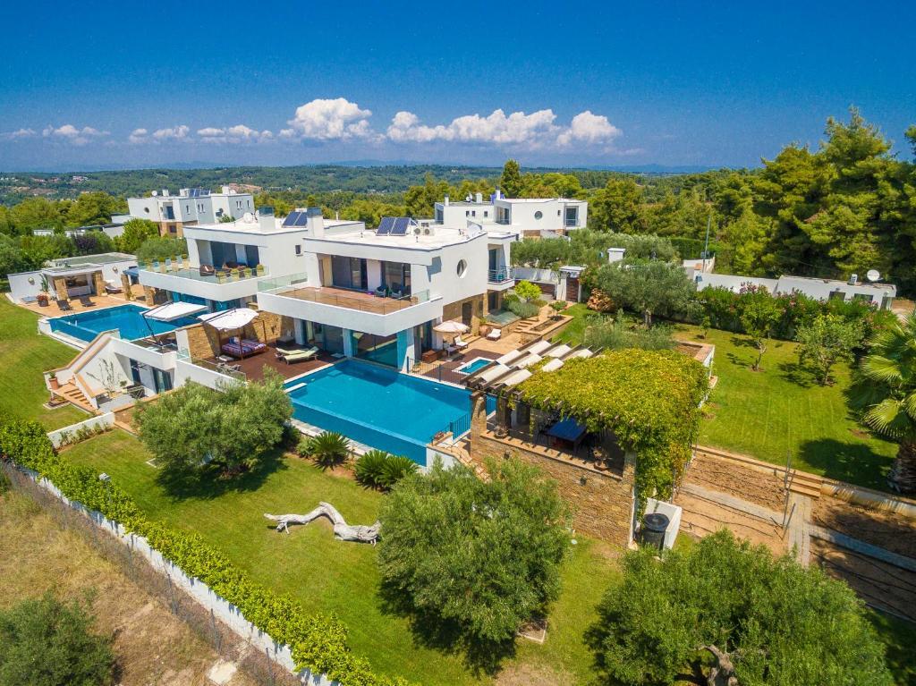 A bird's-eye view of Olive Hills Villa