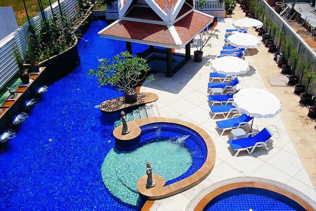 Vaade basseinile majutusasutuses Kata Poolside Resort või selle lähedal