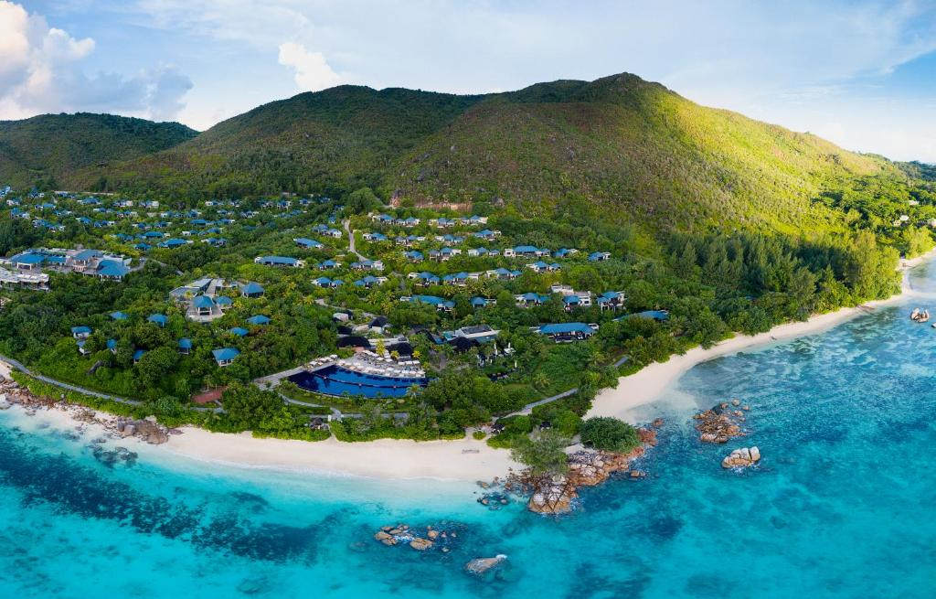 A bird's-eye view of Raffles Seychelles