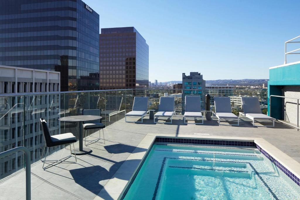 The swimming pool at or near AC Hotel by Marriott Beverly Hills