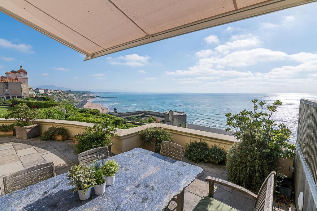 Ametsa Luxury Flat Terrace And Wonderful Seaview In Biarritz