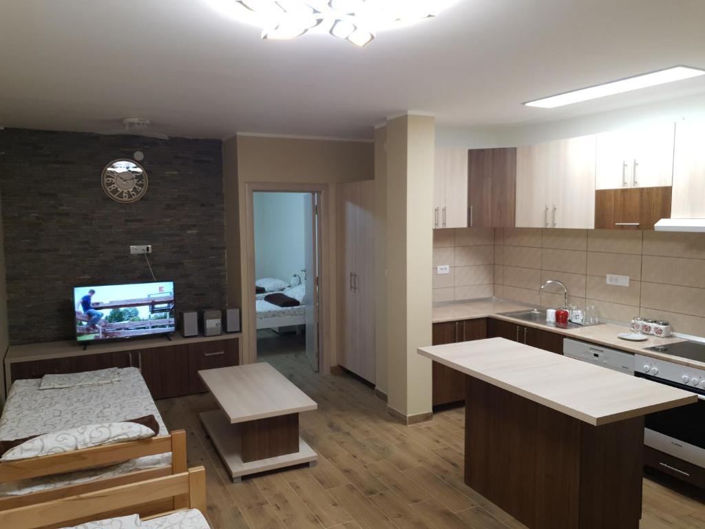 A kitchen or kitchenette at Vilotic group,Apartman 2