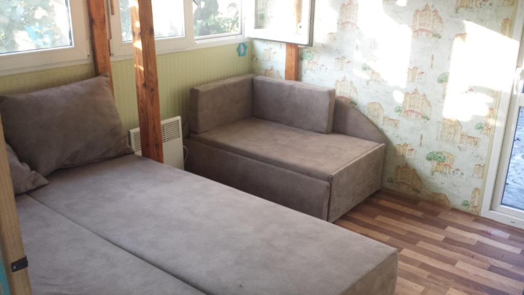 אזור ישיבה ב-Guest House Ivanovyh