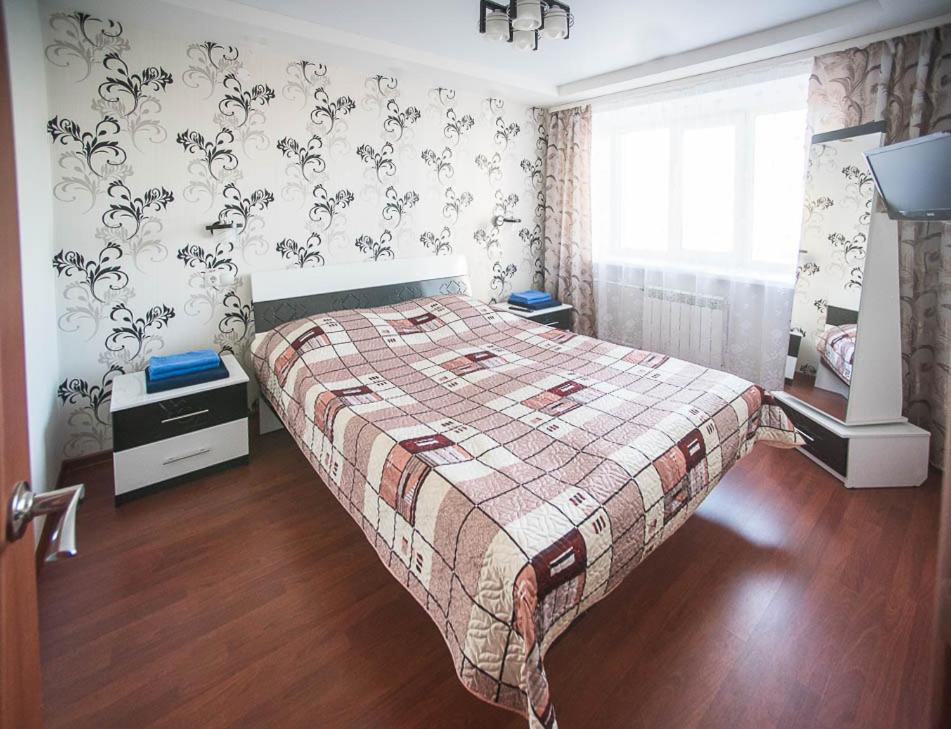Кровать или кровати в номере Отель Иваново