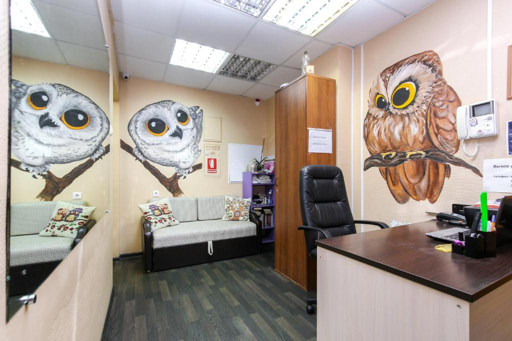 Гостиная зона в Hostel Wood Owl