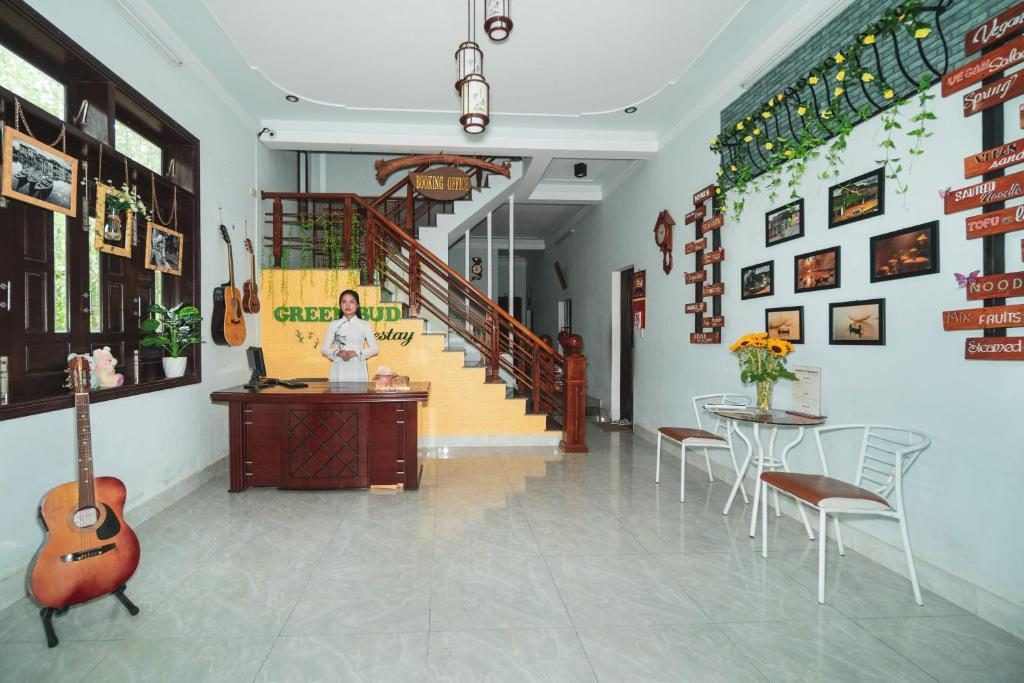 The lobby or reception area at Loc Xanh homestay