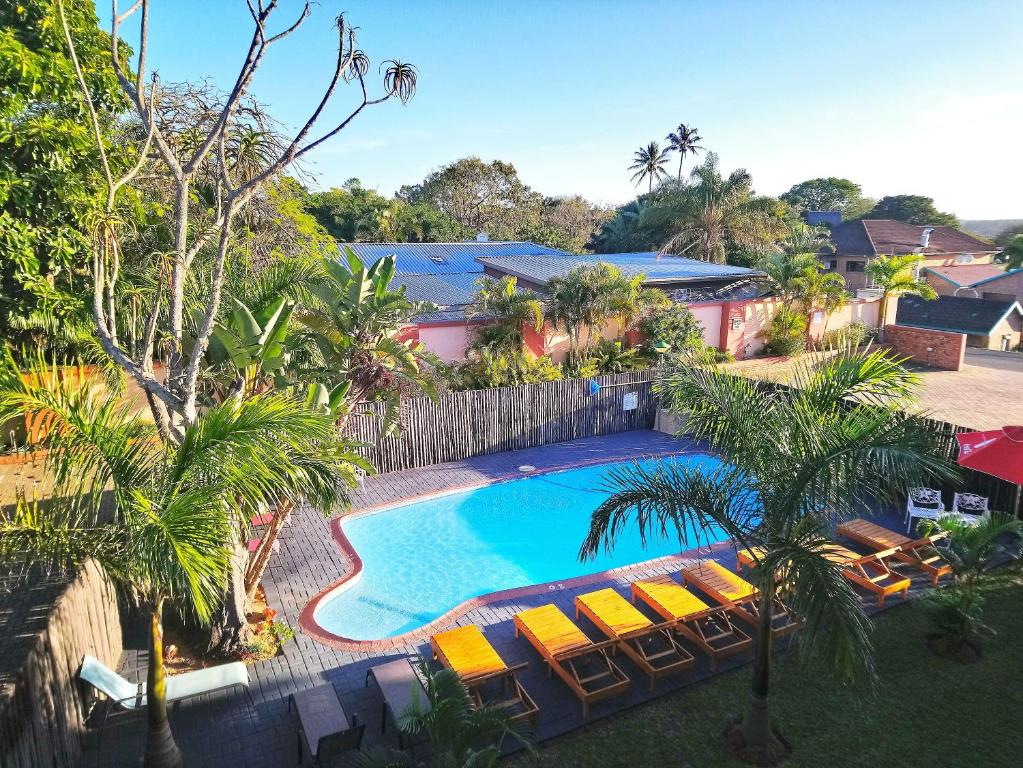 A view of the pool at St Lucia Lodge or nearby