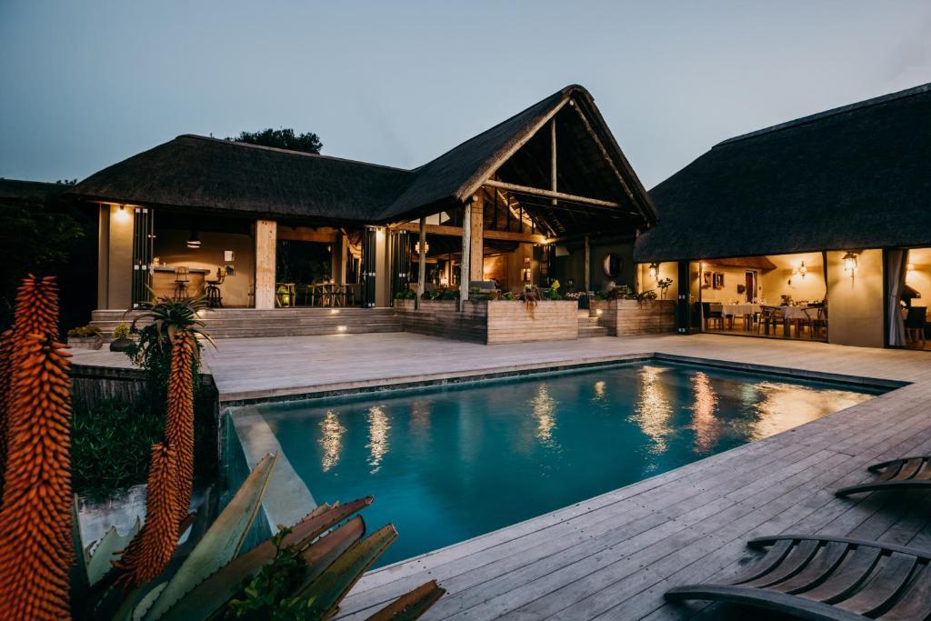 The swimming pool at or close to Bukela Game Lodge - Amakhala Game Reserve