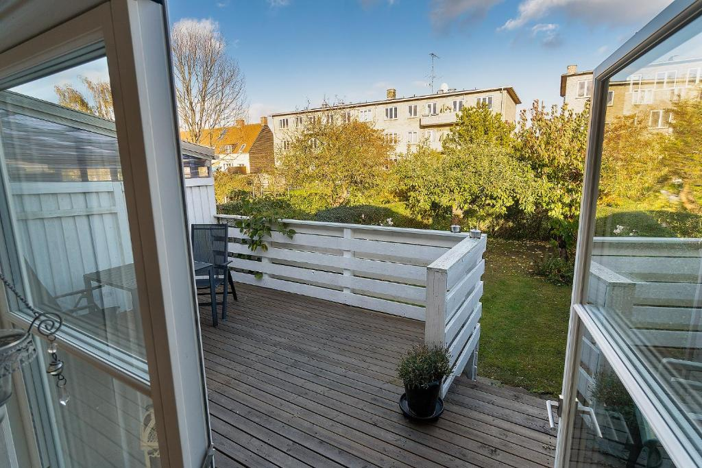 A balcony or terrace at rækkehus ved amagerstrand
