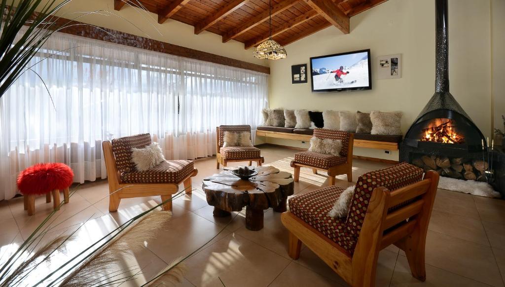 Un lugar para sentarse en Hotel Aconcagua