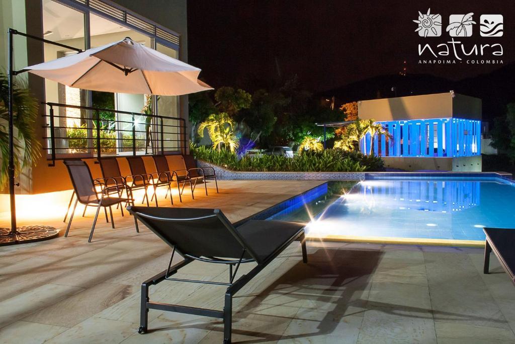 The swimming pool at or near Anapoima Natura