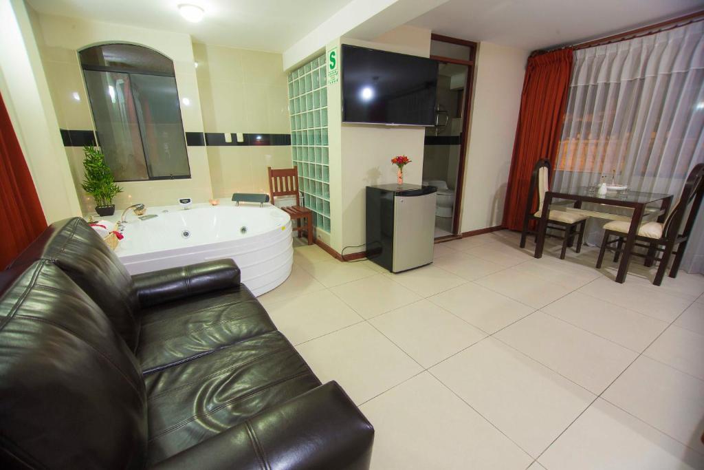 Zona de estar de Hotel La Casona Del Olivo Arequipa