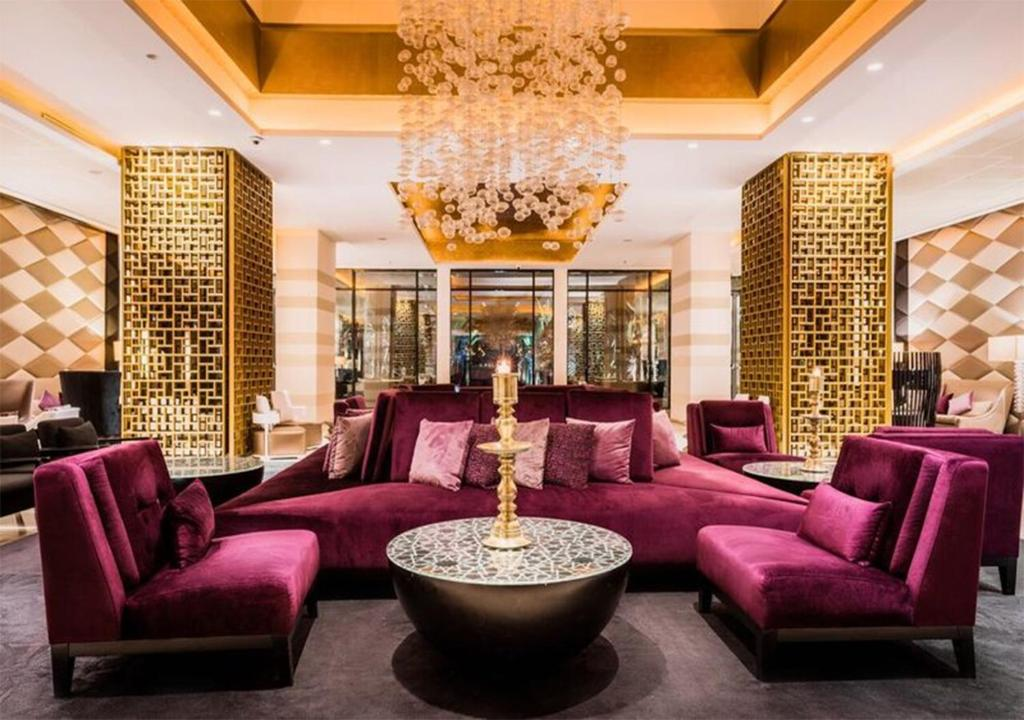 The lobby or reception area at Sofitel Rabat Jardin Des Roses