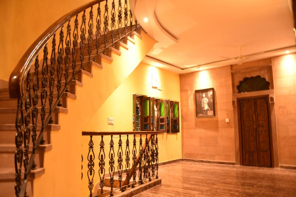 The lobby or reception area at Jodhpur Palace Guest House