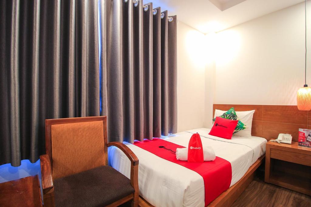 Кровать или кровати в номере Attica Hotel