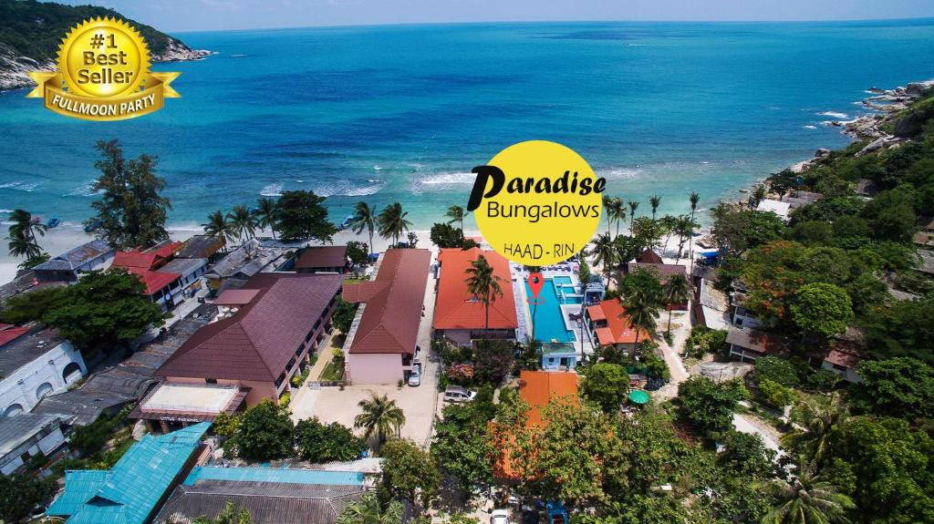 A bird's-eye view of Paradise Bungalows