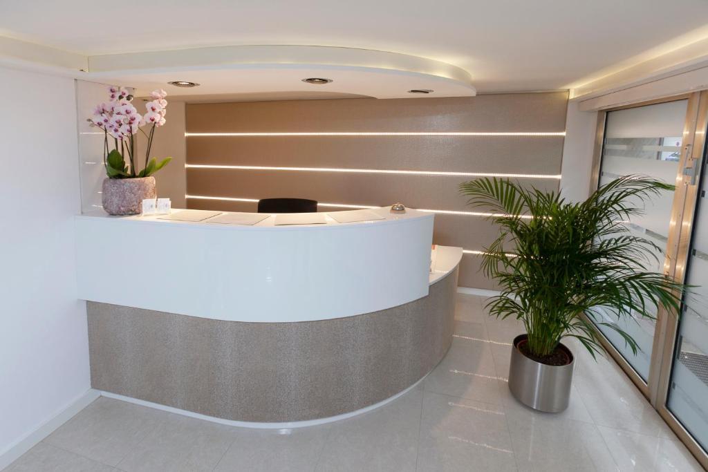 Lobby/Rezeption in der Unterkunft Hotel Prinz Anton