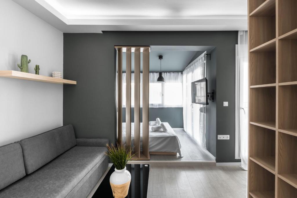Ein Sitzbereich in der Unterkunft DeniZen Boutique Apartments, Nilie Hospitality MGMT