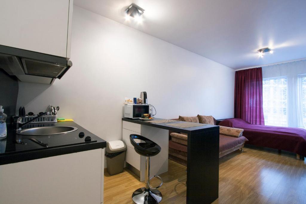 Köök või kööginurk majutusasutuses Jõe Apartment