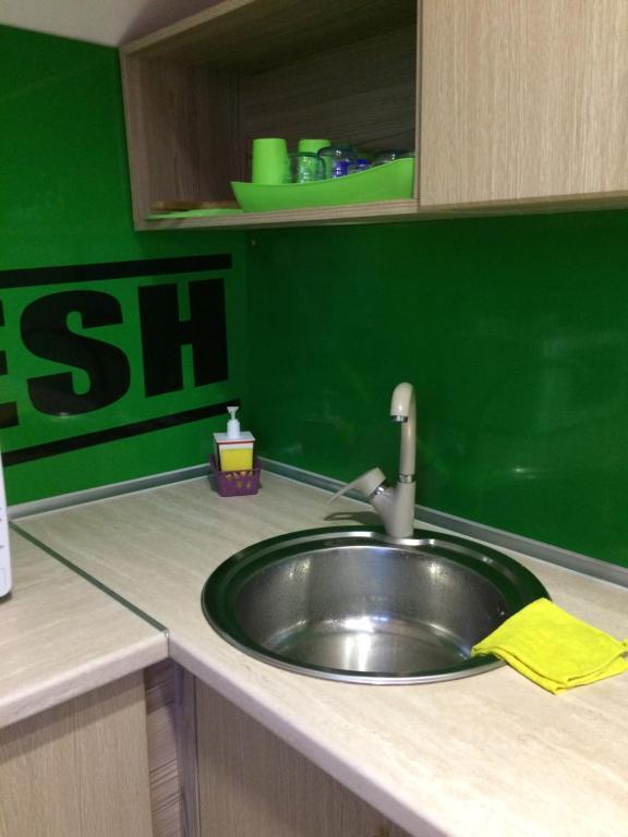 A kitchen or kitchenette at Hostel V Korobke