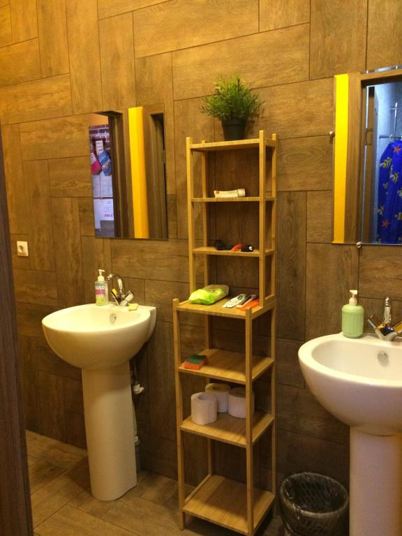 A bathroom at Hostel V Korobke