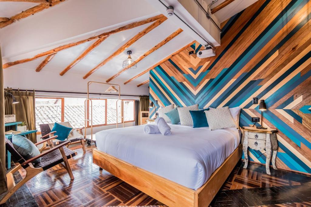 Cama o camas de una habitación en Selina Plaza De Armas Cusco