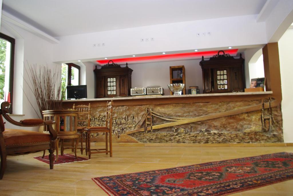 The lobby or reception area at Porta Colonia