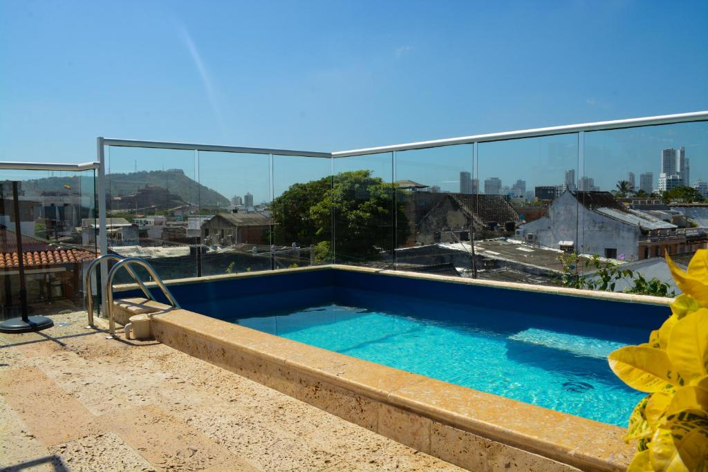 The swimming pool at or near Casa Ebano 967