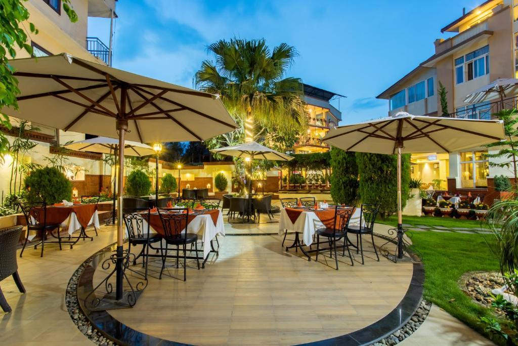 En restaurang eller annat matställe på Hotel Moonlight