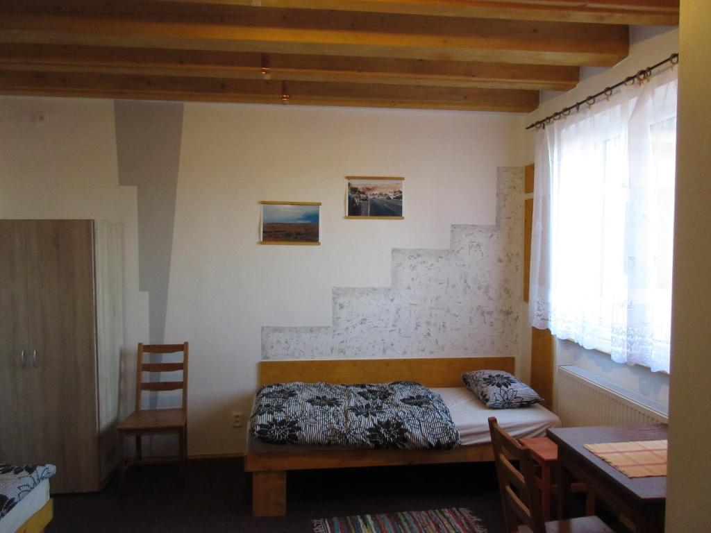Postel nebo postele na pokoji v ubytování Penzion Shamrock
