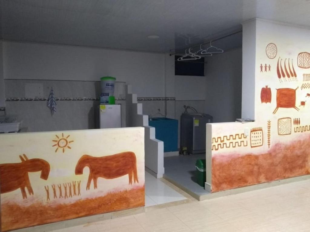 The lobby or reception area at Paradiso Guaviare