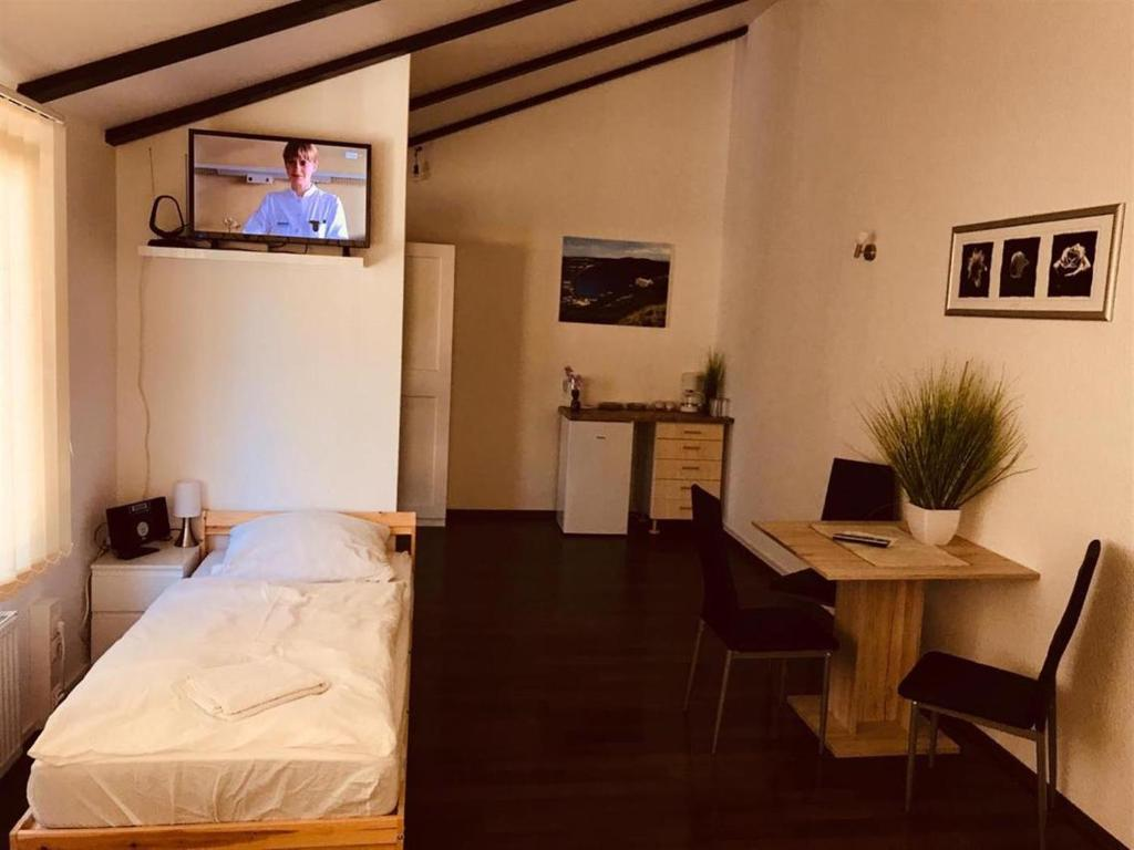TV/Unterhaltungsangebot in der Unterkunft Gemütliches Zimmer in Zeuthen