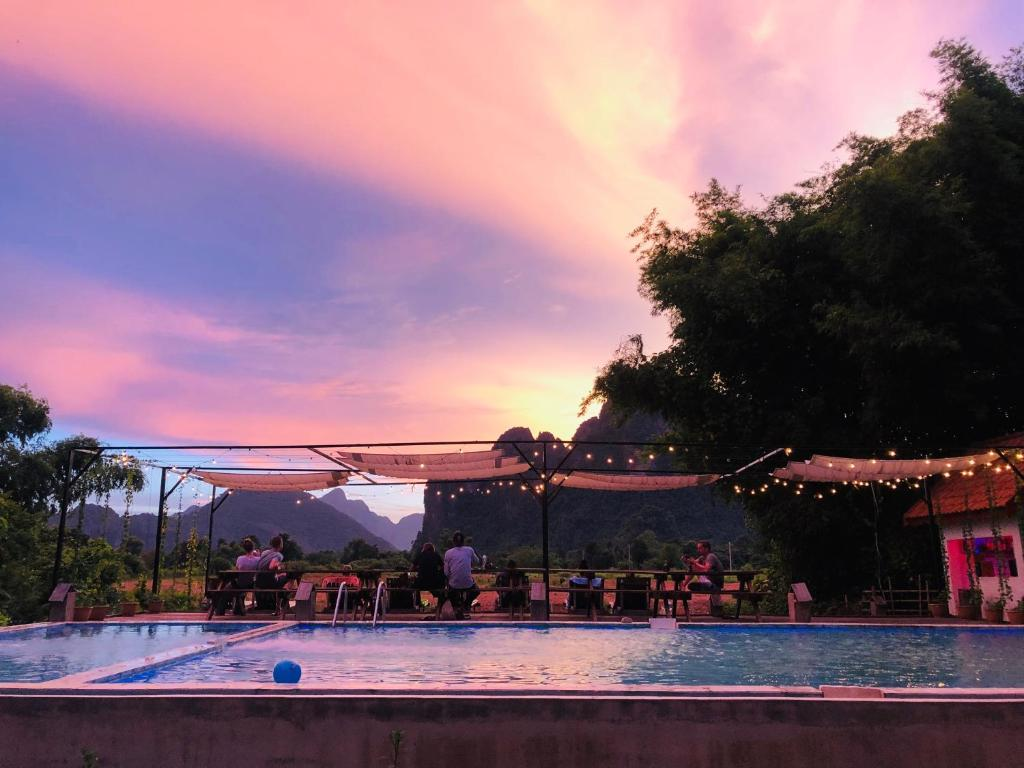 The swimming pool at or near Magic Monkey Garden