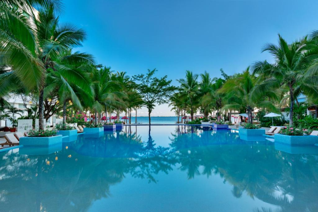 The swimming pool at or near Grand Oasis Sens - All-Inclusive Adults Only