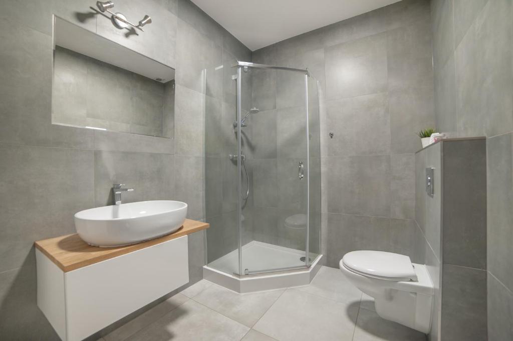Kúpeľňa v ubytovaní Wawel Automatic Rooms 24h