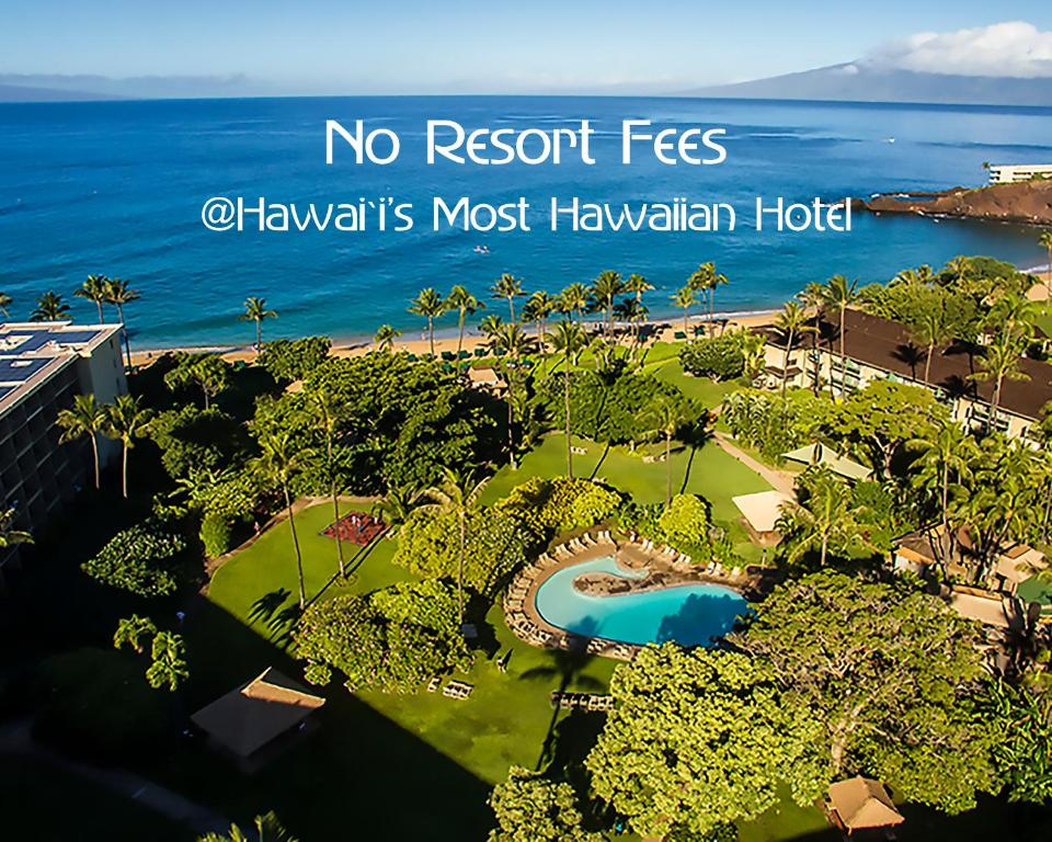A bird's-eye view of Ka'anapali Beach Hotel