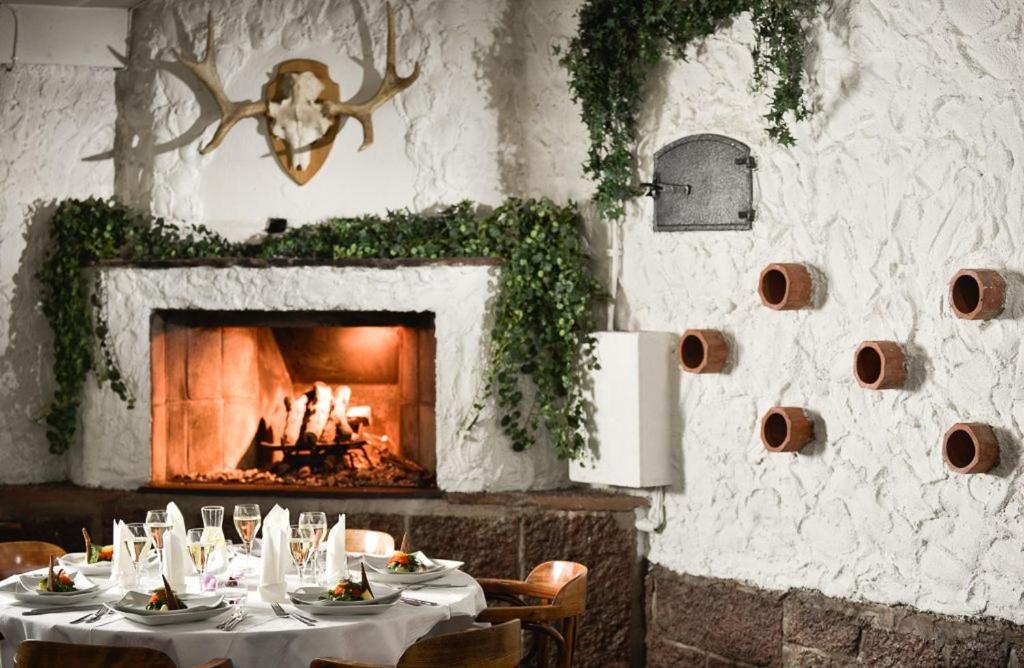 En restaurang eller annat matställe på Hotell Amigo